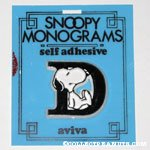 Snoopy with letter D Plastic Monogram
