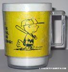 Charlie Brown leaving baseball game Mug