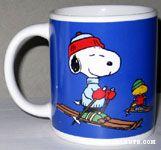 Snoopy and Woodstock Skiing Mug