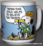 Snoopy taping Hockey Stick