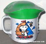 Snoopy and Woodstock on Sailboat Mug