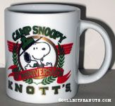 Knott's Camp Snoopy 10th Anniversary Mug