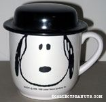 Snoopy portait Mug with hat lid
