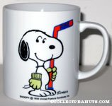 Snoopy Holding Hockey Stick 'Snoopy's  Senior World Hockey Tournament 1985' Mug