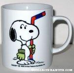 Snoopy Holding Hockey Stick 'Snoopy's  Senior World Hockey Tournament 1987' Mug