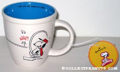 Snoopy playing baseball 'Live Life one game at a time' Mug
