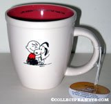 Charlie Brown hugging Snoopy 'Life doesn't get any better than this' Mug