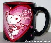 Snoopy Cupid 'Love hits the spot' Mug