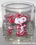 Snoopy & Woodstock dancing 'Life is too short...' Glass