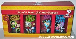 Peanuts Gang 4 Glass Set
