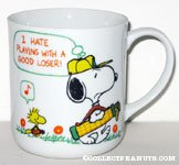 Snoopy and Woodstock golfing 'I hate playing with a good loser' Mug