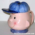 Charlie Brown with baseball cap lid Mug