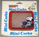 Snoopy eating a picnic Mini Cork Board