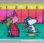 Peanuts Gang playing baseball Hologram ruler