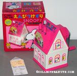 Snoopy and Woodstock living in Pink & White House pencil sharpener
