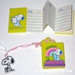 Snoopy and Woodstock on Doghouse Fold-out Memo Pad