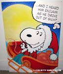 Santa Snoopy in Sleigh 'And I heard him exclaim as he drove out of sight...' Card