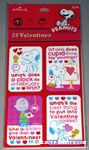 Snoopy, Woodstock and Charlie Brown Joke Classroom Valentines