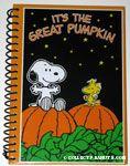 Snoopy & Woodstock on Pumpkins Halloween spiral Journal