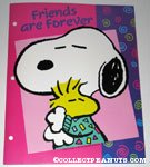 Snoopy hugging Woodstock 'Friends are Forever' Portfolio Folder