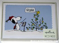 Snoopy with Woodstock in a pear tree Box of Cards