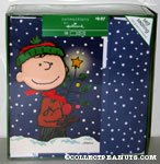 Charlie Brown with Tree Box of Cards
