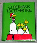 Snoopy on doghouse with Woodstocks 'Christmas is together time' Book Ornament