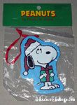 Snoopy holding Christmas gift box Wooden Ornament