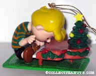Schroeder at piano with tree Ornament