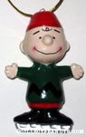 Charlie Brown skater Ceramic Ornament
