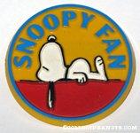 Snoopy on doghouse 'Snoopy fan' Button