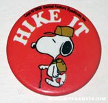 Beaglescout Snoopy 'Hike It' Button