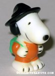 Snoopy wearing black hat & backpack Figure