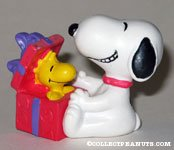 Snoopy with Woodstock in gift box PVC Figurine