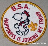 Snoopy in Boy Scout Uniform Patch