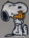 Snoopy hugging Woodstock Patch