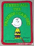 Charlie Brown 'I need all the friends I can get' Patch
