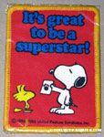 Snoopy & Woodstocks 'It's great to be a superstar' Patch