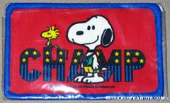 Snoopy wearing medal 'Champ' Patch