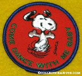 Snoopy dancing 'Come Dance with me Baby' Patch