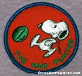 Snoopy kicking a football 'The Mad Punter' Patch