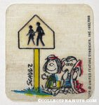 Peppermint Patty and Linus Cross Walk Sign Patch