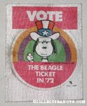 Snoopy 'Vote the Beagle Ticket' Patch
