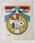 Snoopy 'Snoopy for President' Patch