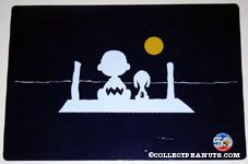Charlie Brown and Snoopy on Pier