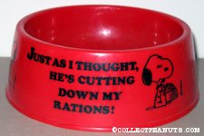 Snoopy 'Just as I thought, He's cutting down on my rations' Red Dog Dish