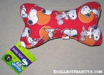 Snoopy Dog Bone Stuffed Toy