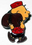 Charlie Brown with sleeping bag Bertoni-Milano Pin