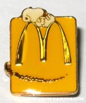 Snoopy Laying on giant M logo Yellow McDonald's Pin