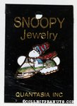 Snoopy driving snowmobile Pin